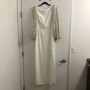 Eliza J Sequined Bridesmaid's Dress
